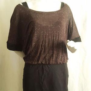 Splendid Dresses - Splendid Speckle Melange Blouson Dress Size Medium